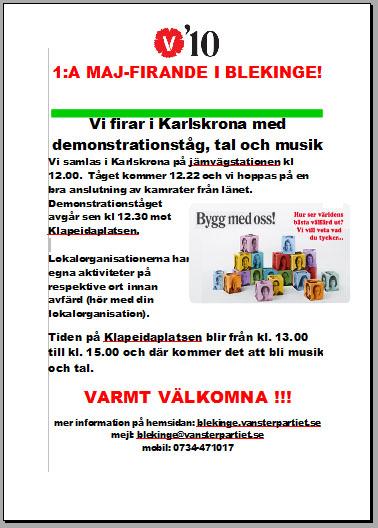 Förstamajfirande i Karlskrona
